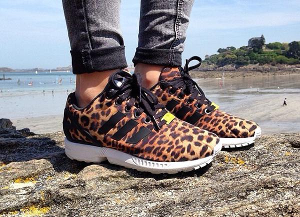 adidas zx flux leopardate nere